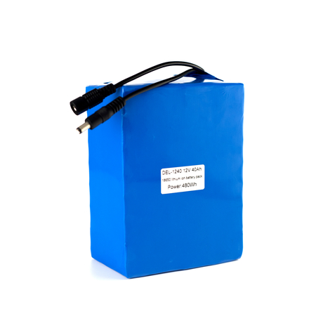 12V 40Ah 18650 lithium ion battery pack