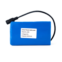 24V  5000mah Li-Polymer Battery Pack